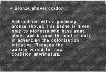 Bronze shovel cordon