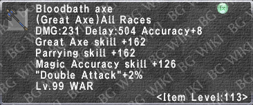 Bloodbath Axe description.png