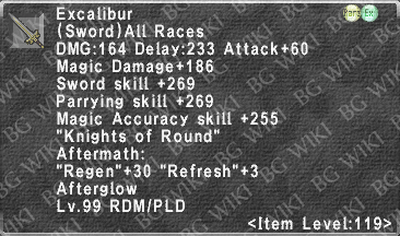 Excalibur (Level 119 III) description.png