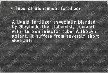 Tube of alchemical fertilizer