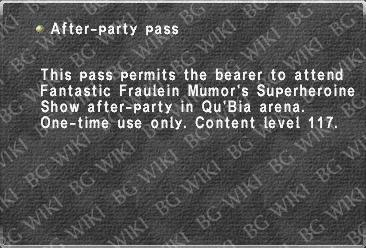 After-party pass