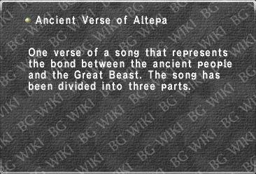 Ancient Verse of Altepa