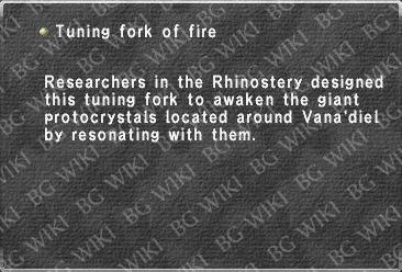 Tuning fork of fire