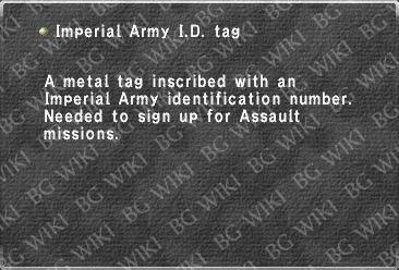 Imperial Army I.D. tag