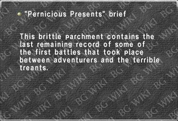 """Pernicious Presents"" brief"