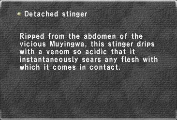 Detached stinger