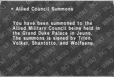 Allied Council Summons