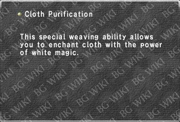 Cloth Purification