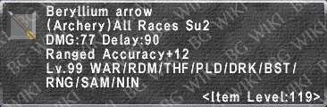Beryllium Arrow description.png