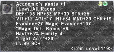 Acad. Pants +1 description.png
