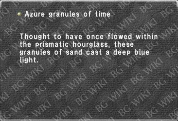 Azure granules of time
