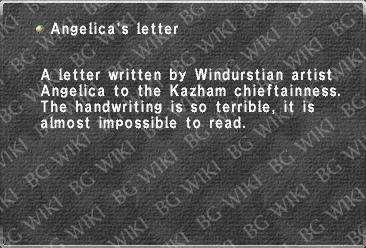 Angelica's letter