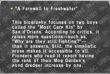 """A Farewell to Freshwater"""