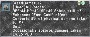 Creed Armet +2 description.png