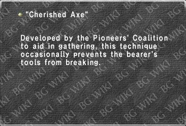 """Cherished Axe"""