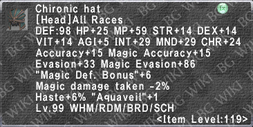 Chironic Hat description.png