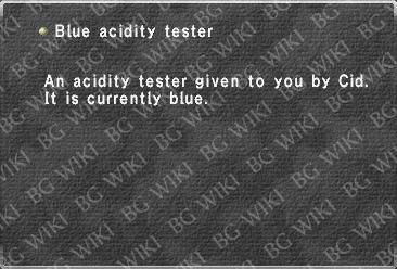 Blue acidity tester