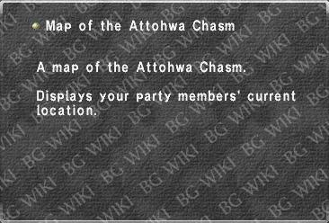Map of the Attohwa Chasm