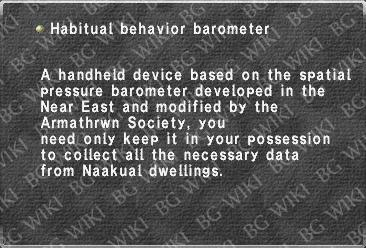 Habitual behavior barometer