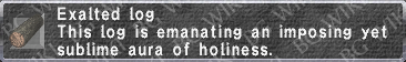 Exalted Log description.png