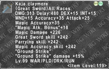 Kaja Claymore description.png