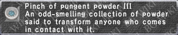 Pungent Powder III description.png