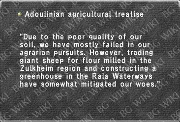 Adoulinian agricultural treatise