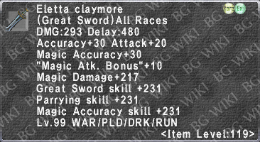 Eletta Claymore description.png