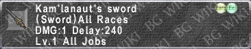 Kam'lanaut's Sword description.png