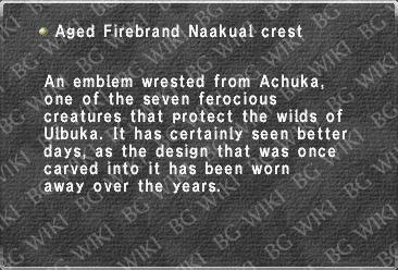Aged Firebrand Naakual crest