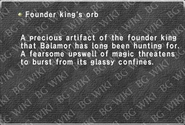 Founder king's orb