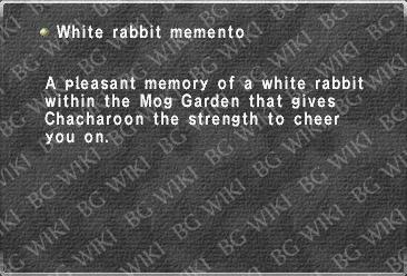 White rabbit memento