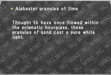 Alabaster granules of time