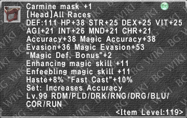 Carmine Mask +1 description.png