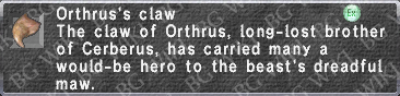 Orthrus's Claw description.png