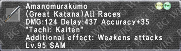Amanomurakumo (Level 95) description.png