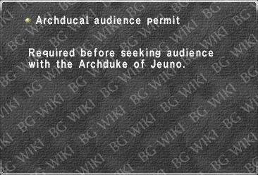 Archducal audience permit