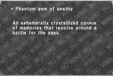 Phantom gem of apathy