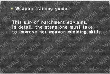Weapon training guide