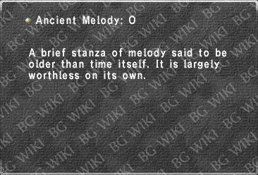 Ancient Melody: O