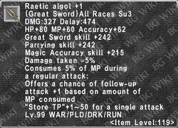 Raetic Algol +1 description.png