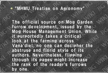 """MHMU Treatise on Agronomy"""