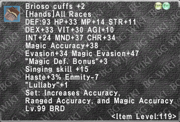 Brioso Cuffs +2 description.png
