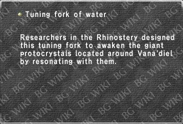 Tuning fork of water