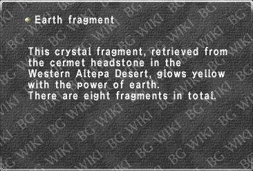 Earth fragment