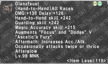 Glanzfaust (Level 119 II) description.png