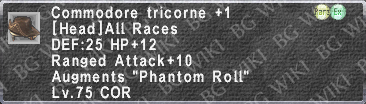 Comm. Tricorne +1 description.png