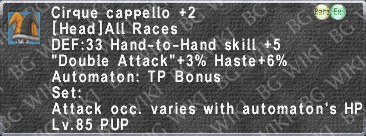 Cirque Cappello +2 description.png