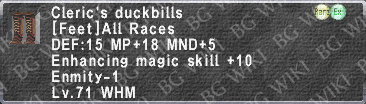 Cleric's Duckbills description.png