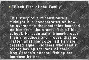 """Black Fish of the Family"""